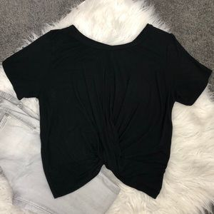 Black Crop Top with a Front twist